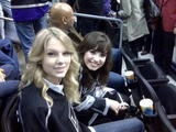 Taylor Swift & Demi Lovato @ Staples Center watching Tampa Bay-Los Angeles NHL game 01/12/09- 3 HQ