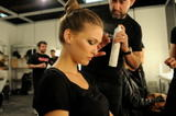 Bar Refaeli in backroom and catwalk at Puerta de Europa Bridal Fashion Show